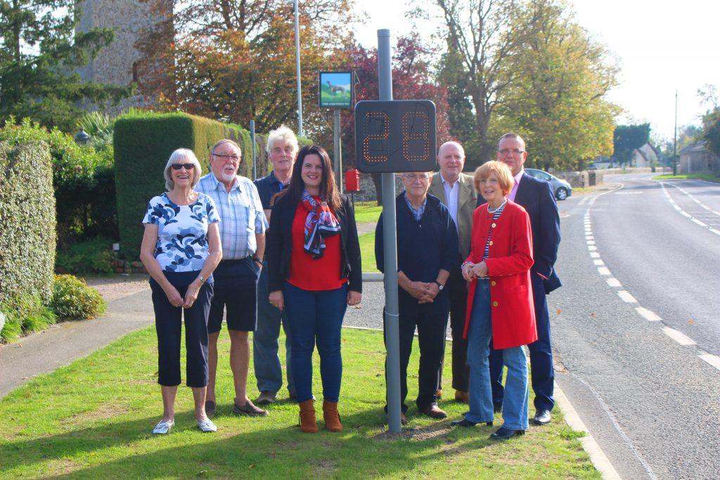 Community volunteers take on speeding traffic