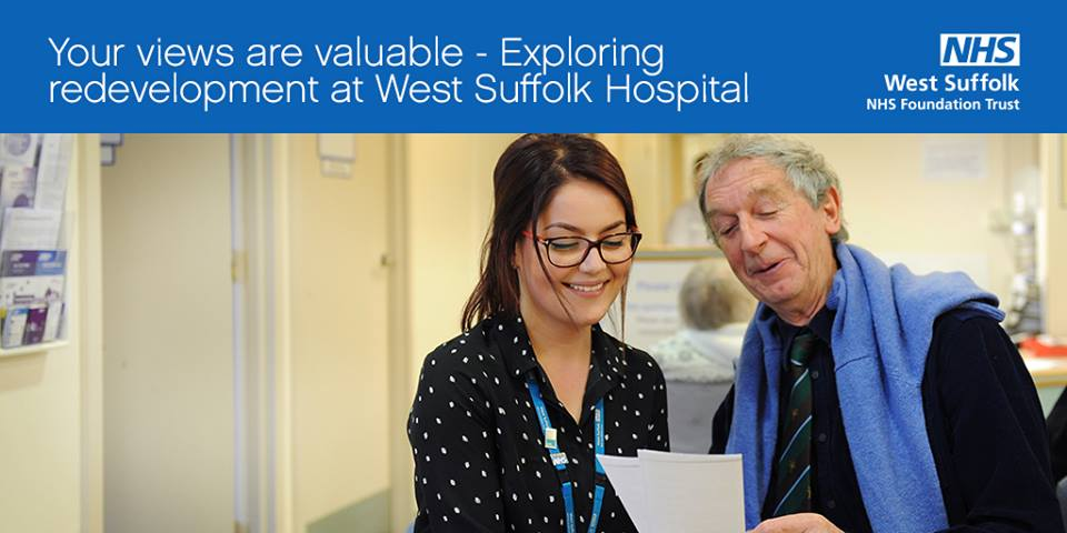 West Suffolk Hosptail is looking at redeveloping the front entrance