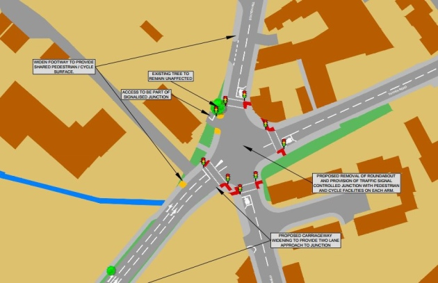 Tayfen Road roundabout won't be turned in to traffic lights