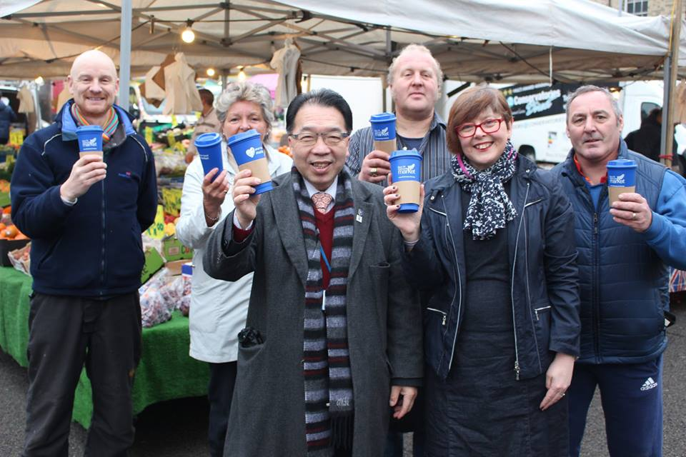 Market traders and Council come together to promote reusable cups