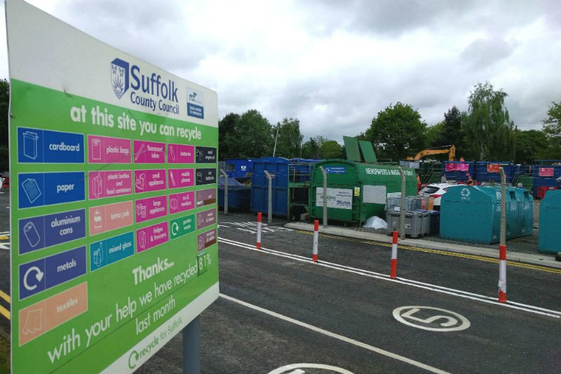 More booking slots released following the successful re-opening of Suffolk's Recycling Centres