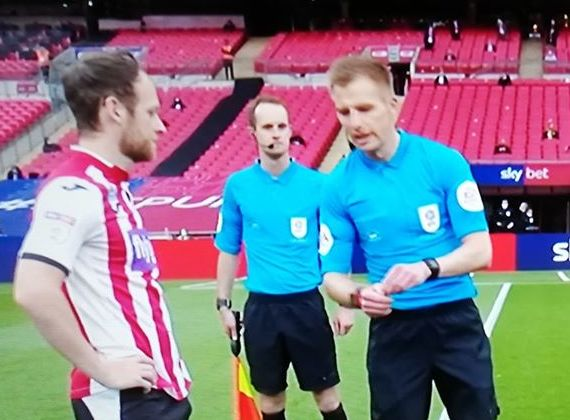 Local football official makes appearance at Wembley Play-Off Final