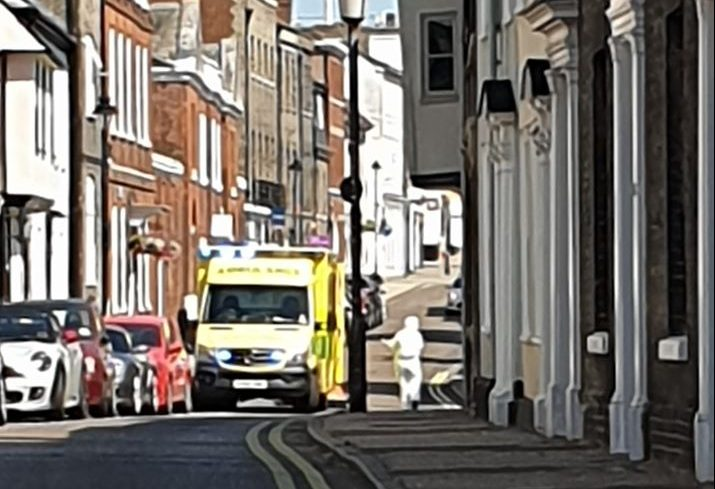 Guildhall Street cordoned off following medical emergency