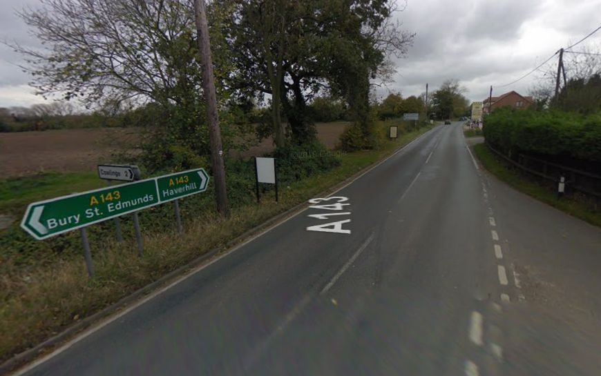 A man has died following a single-vehicle collision in Stradishall