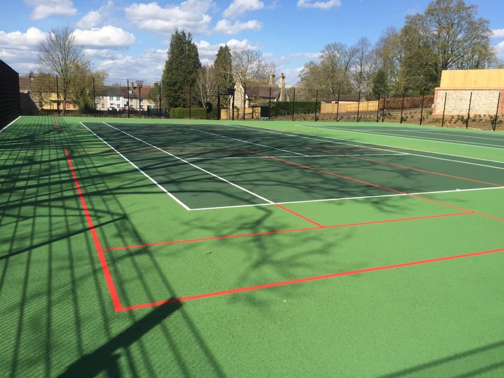 New Abbey tennis courts set to open